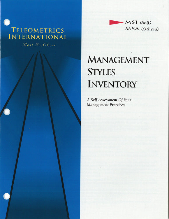 Self-Survey>> Management Styles Inventory (MSI)