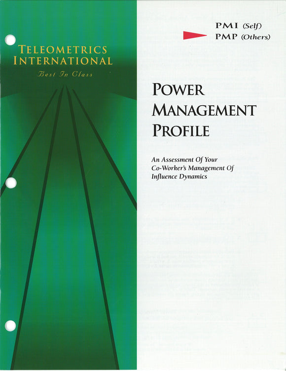 Co-Worker Feedback>> Power Managemement Profile (PMP)