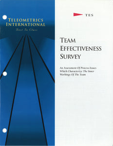 Self-Survey>> Team Process Diagnostic (TPD)