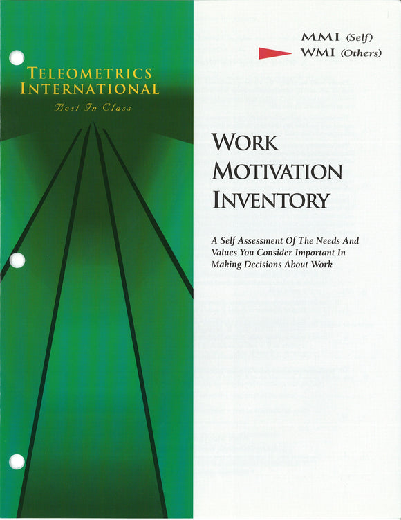 Co-Worker Feedback>> Work Motivation Inventory (WMI)