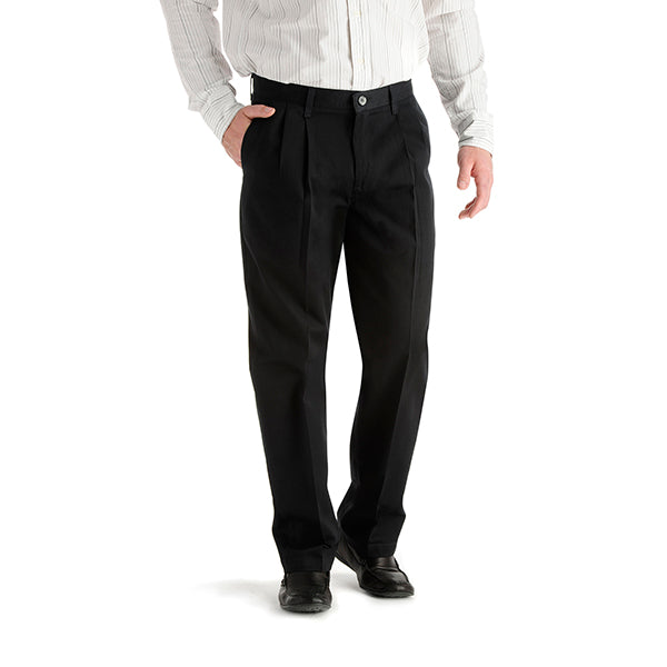 Lee Men's Stain Resistant Pleated Pants - Black-