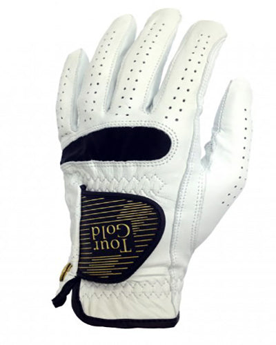 Tour Gold Cabretta Leather Golf Glove LH  -White-