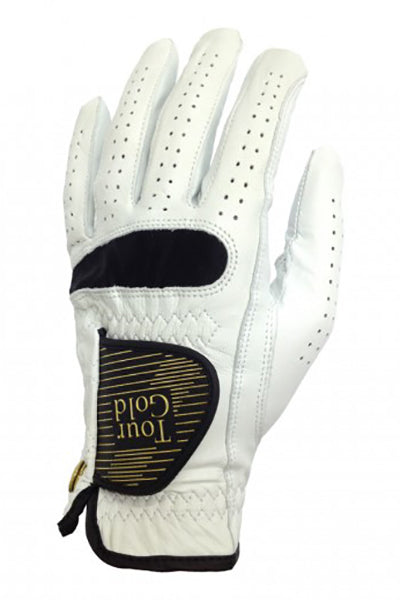 Tour Gold Cabretta Leather Golf Gloves RH  -White-