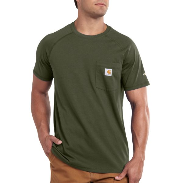 Carhartt Men`s Force Cotton Short Sleeve T-Shirt R