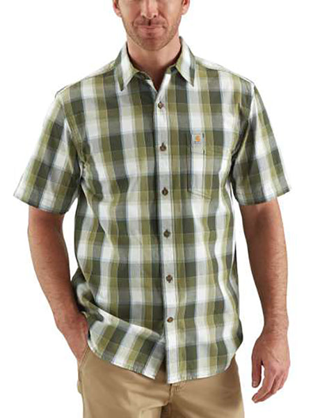 Carhartt Men's Essential Plaid Shirt -Olive-
