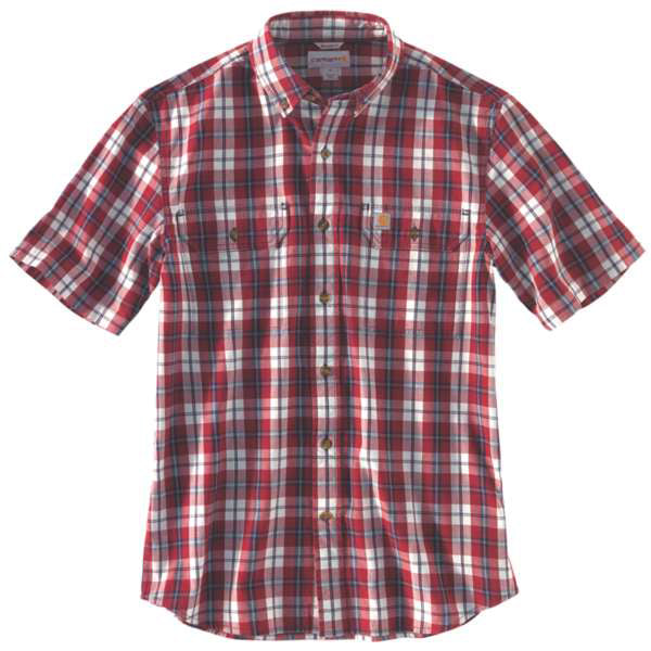 Carhartt Men's Fort Plaid Shirt -Dark Crimson-