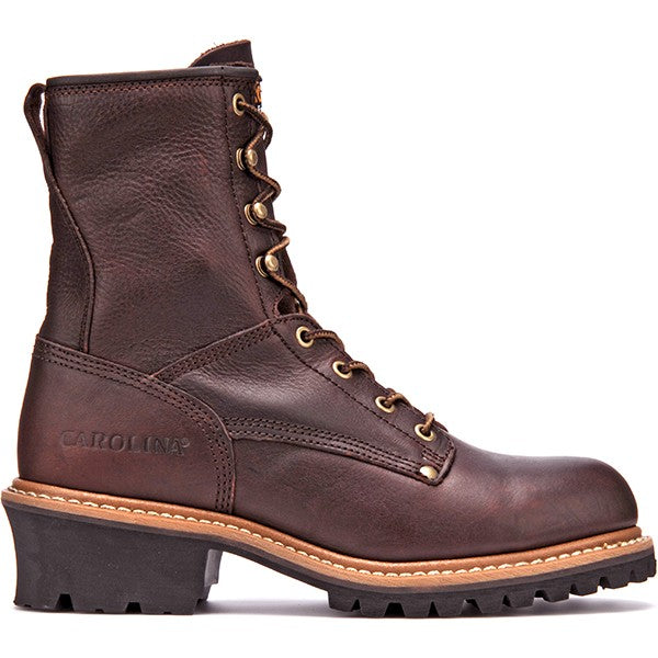 """Carolina Men`s 8"""" Logger Work Boot -Brown-"""