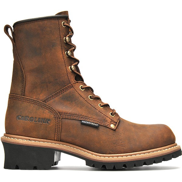 """Carolina Men's 8"""" Waterproof Logger Work Boot -B"