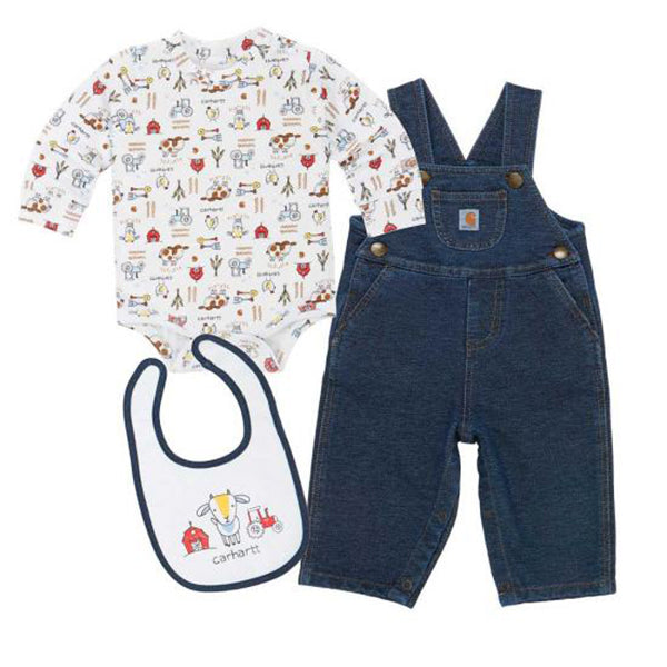 Carhartt Infant Boy's Barnyard Friends Overall Set