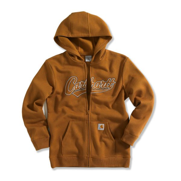Carhartt Youth Logo Zip Front Fleece Sweatshirt