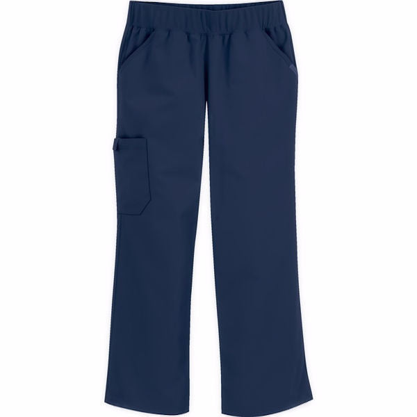 Cherokee Flexibles Straight Leg Cherokee Flexibles Mid Rise Knit Waist Pull-on Pant