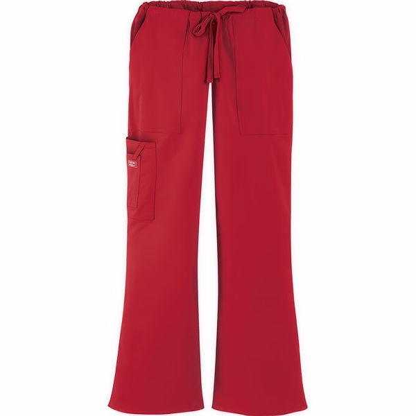 Cherokee Workwear Core Stretch Mid Rise Drawstring Cargo Pant