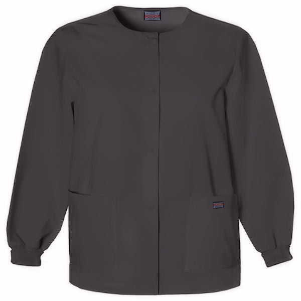 Cherokee Scrubs Snap Front Jacket-Black