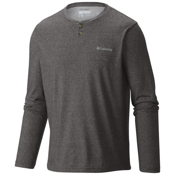 Thistletown Park LS Henley Shirt -Charcoal Heather