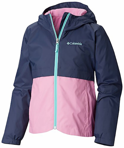 Columbia Toddler Girl's Rainzilla Jacket -Pink-
