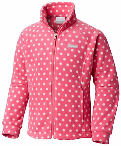 Columbia Girl's Benton Springs Fleece -Pink Polka-