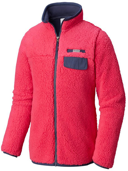 Columbia Girl's Mountain Side Full-Zip -Pink-