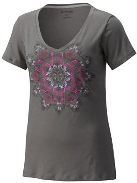 Columbia Women's Summer Rays Tee -Charcoal-
