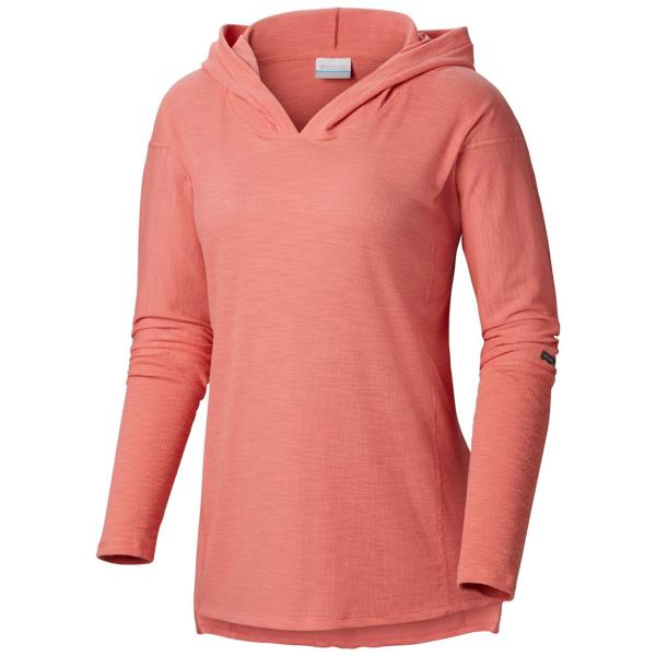 Columbia Women's Longer Days Hoodie -Coral Bloom-