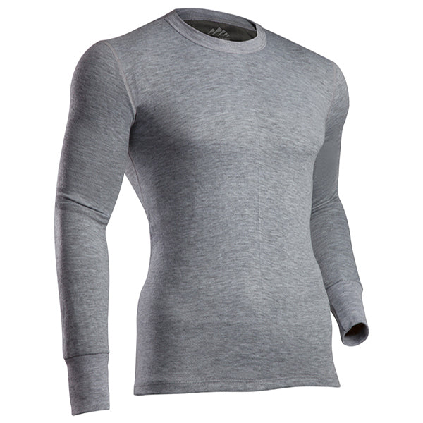 Coldpruf Men's Platinum Crew Top -Heather Gray-