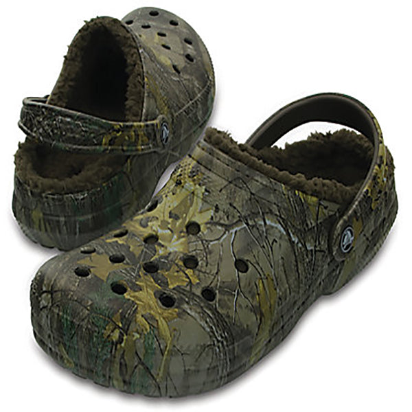 Crocs Men's RealTree Xtra Classic Fuzz Lined Clog