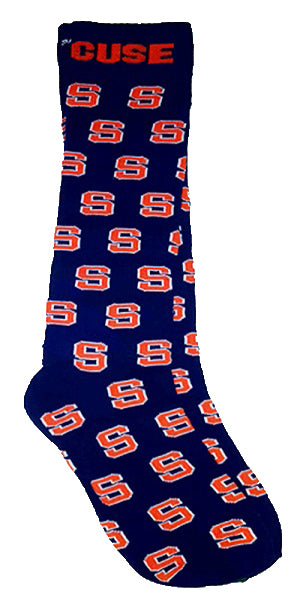 Syracuse Block S Socks