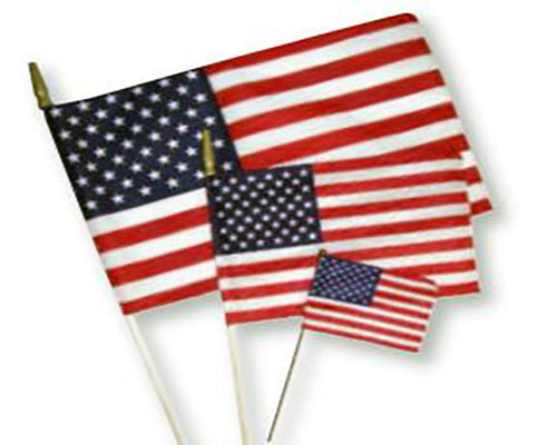 United States Flag Wood Stick 8x12