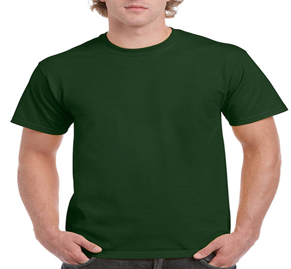 Gildan Adult Ultra Cotton Tee 2X -Forest Green-