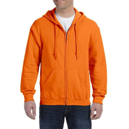Gildan Adult Heavy Blend Full Zip Hoodie -Orange-