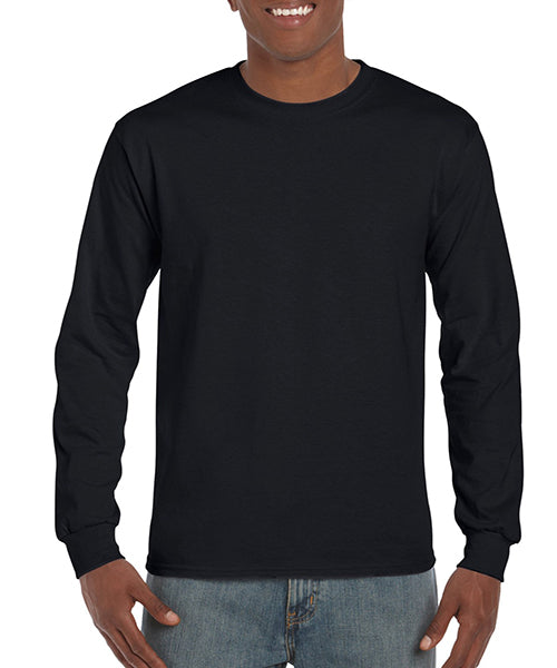 Gildan Adult Ultra Cotton Long Sleeve Tee -Black-