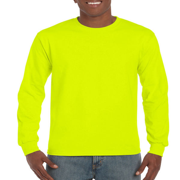 Gildan Men's Ultra Cotton Long Sleeve Tee -Green-