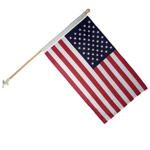 United States Banner Flag with 5ft Pole