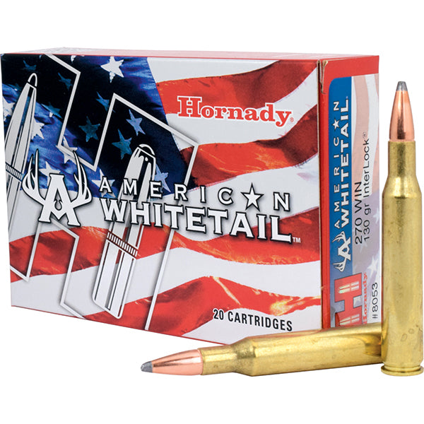 Hornady American Whitetail Rifle Ammunition 270WIN/130GR