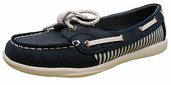 Island Surf Women's Captiva Boat Shoe -Navy-
