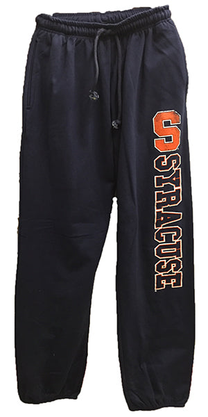 Syracuse Men's Vertical Fleece Pants -Navy-