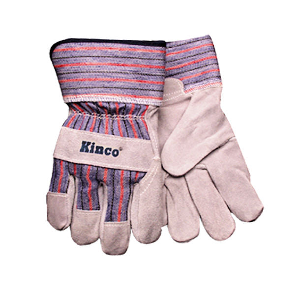 Kinco Kids Suede Cowhide Palm with Safety Cuff Glo