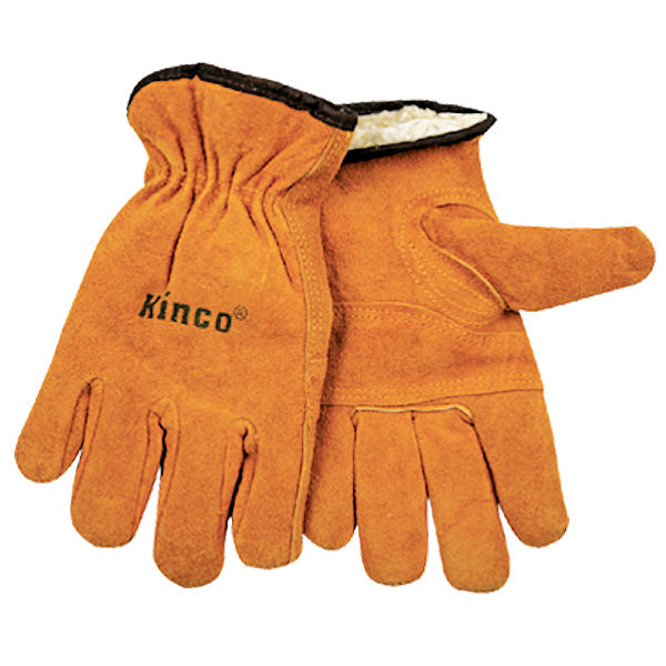 Kinco Men`s Lined Suede Cowhide Driver