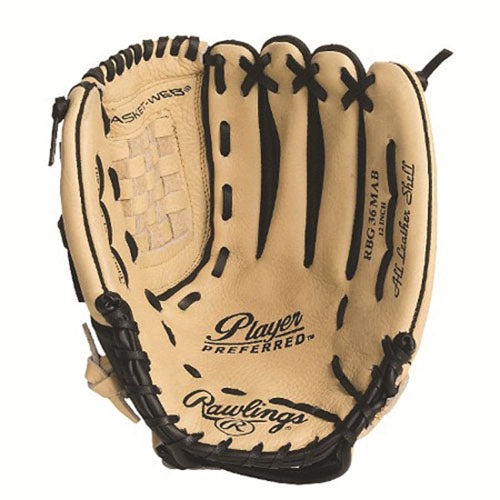 "Rawlings RBG36 12"" Regular Baseball Glove"