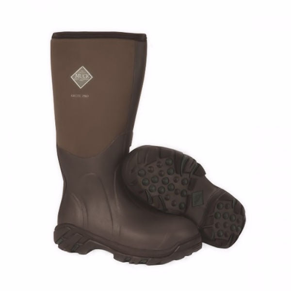 Muck Men's Artic Pro Lined Rubber Boot -Brown-