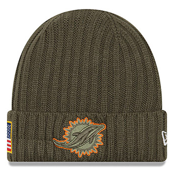 a47f98009 Salute to Service New Era Miami Dolphins Knit Hat – HerbPhilipson s