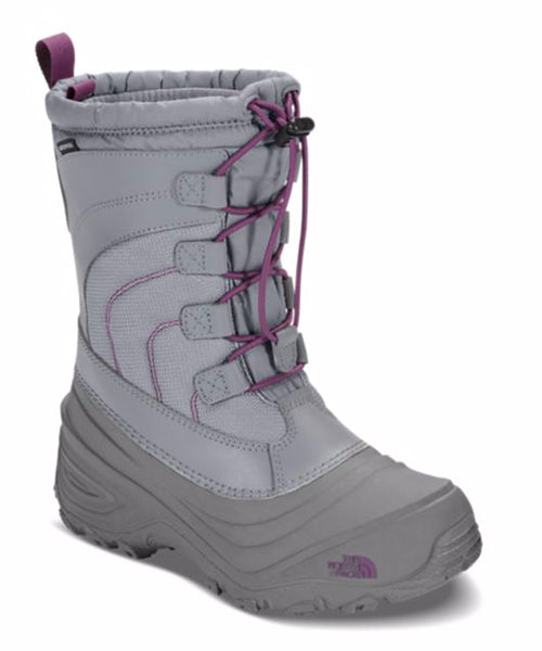 North Face Girl's Alpenglow IV Winter Boot -Gray-