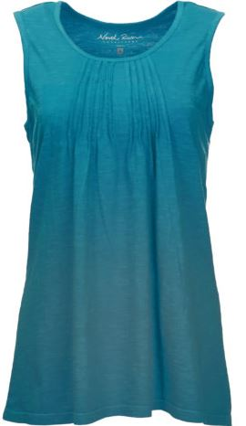 North River Women's Pintuck Tank -Pagoda-