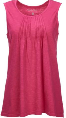 North River Women's Pintuck Tank -Rose-