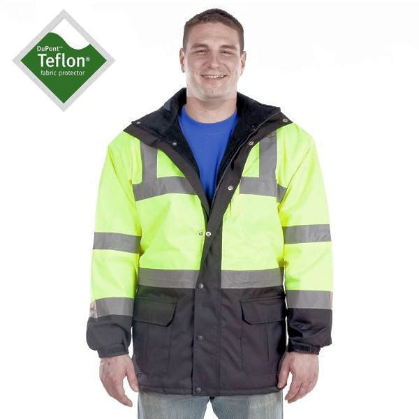 Utility Pro Men's High-Vis Parka -Yellow-