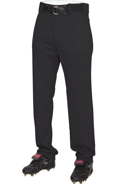 Rawlings Adult Semi-Relaxed Baseball Pants -Black-