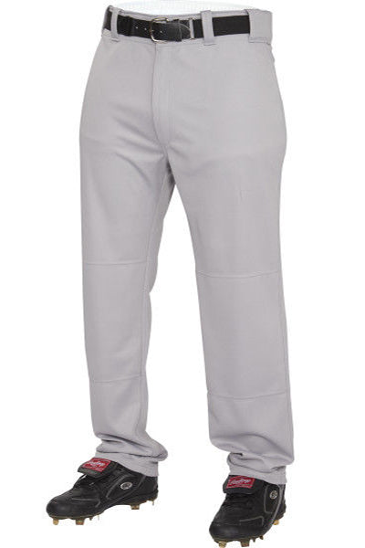 Rawlings Adult Semi-Relaxed Baseball Pants -Gray-