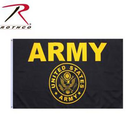 Rothco Army Flag -Black/Gold-