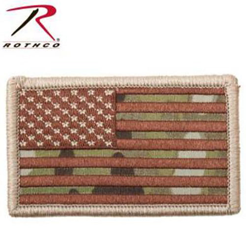 Rothco American Flag Patch -MultiCam-