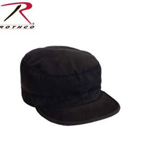 Rothco Solid Vintage Fatigue Cap -Black-