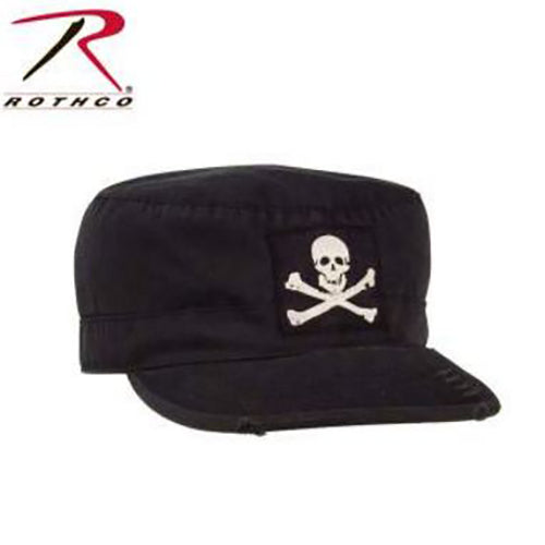 Rothco Vintage Fatigue Cap with Jolly Roger